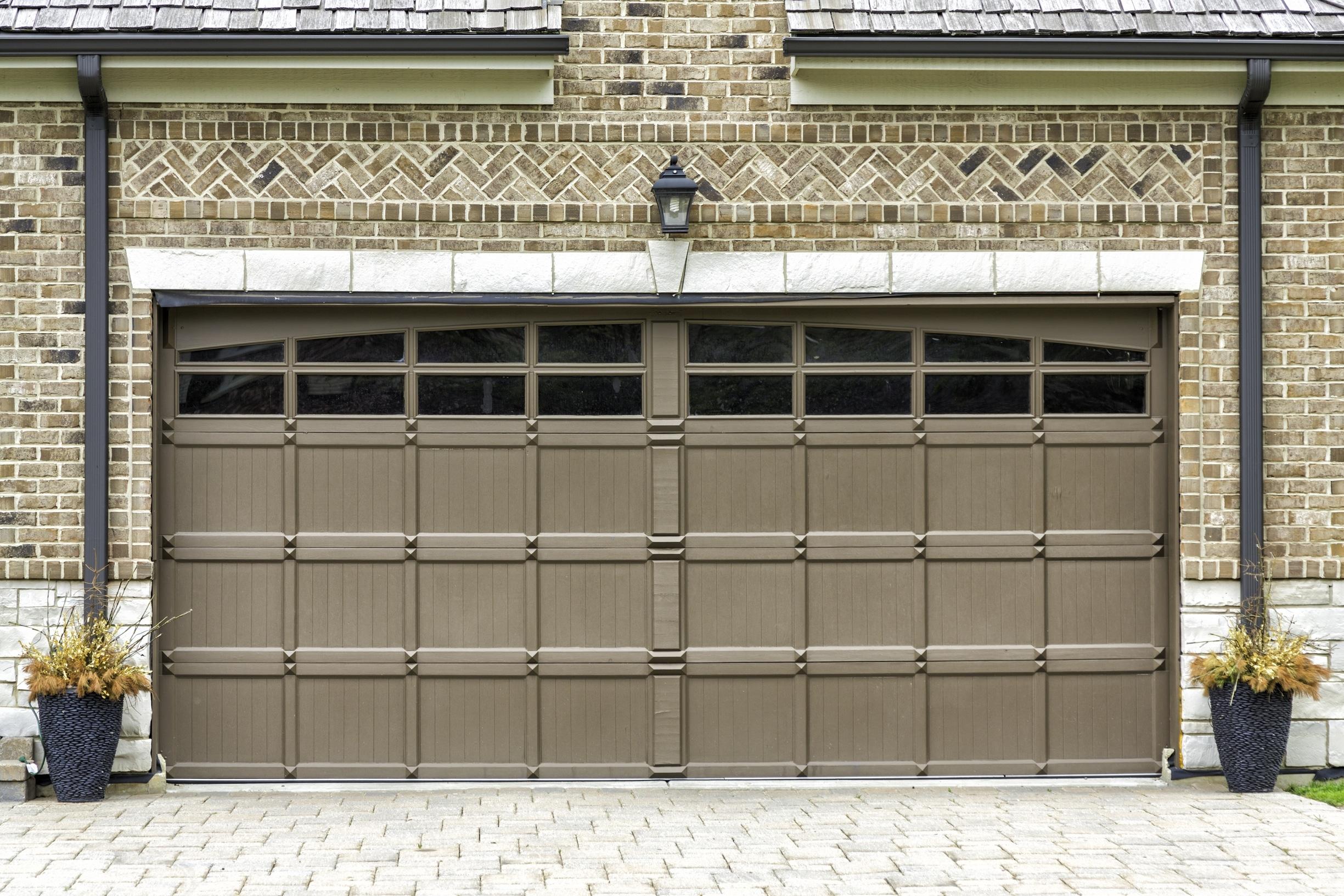Two car wooden garage midwest garage doors for Garage door repair noblesville