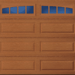 Long panel garage door