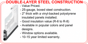 vinyl-backed insulated door construction