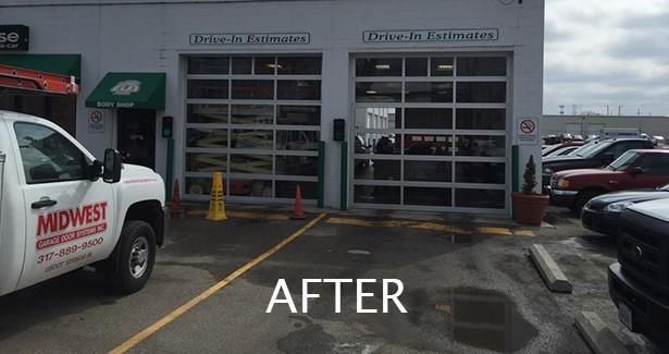 Ray Skillman Ford. Custom Indianapolis Residential Garage Door Installation