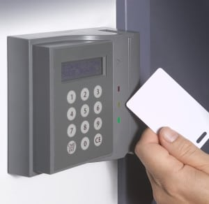 Electronic door card reader