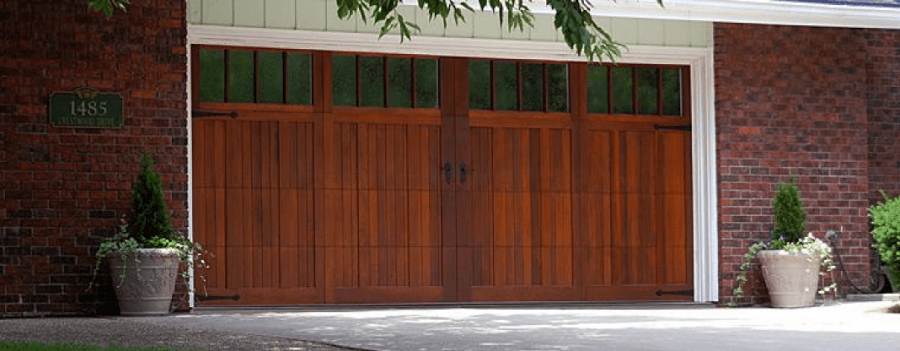 Charming Carriage House Garage Doors