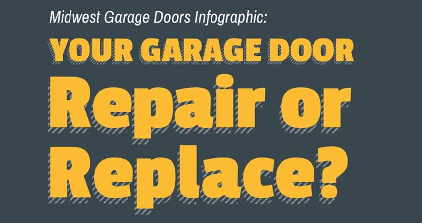Infographic Repair Or Replace Your Garage Door Midwest